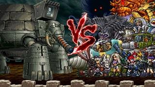 Metal Slug Attack - Gaia Elephant vs. Top Bosses Unit (MSA)