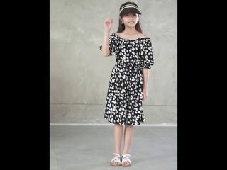 Платье принцессы для девочек подростков шифоновое с принтом в виде ромашек два способа ношения