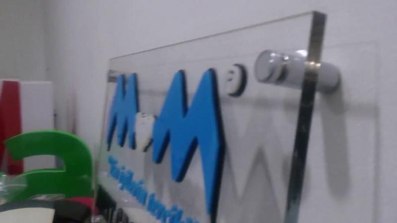 Kapı İsimliği 8mm Şeffaf Pleksi Üzeri 3mm Pleksi Lazer Kesim Harf Uygulama