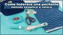 SCUOLA DI UNCINETTO BORSE: FODERARE POCHETTE CHIUSURA CLIC CLAC   UNCINETTO D'ARGENTO