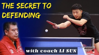THE SECRET TO DEFENDING THE BEST IN THE WORLD - Learn how to play table tennis with coach Li Sun.