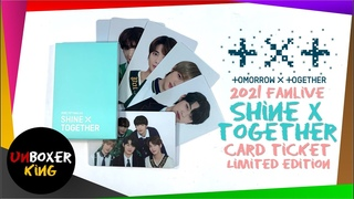 2021 TXT Shine X Together Fanlive 투모로우바이투게더 💫🎊🎉🥂✨ - Tomorrow X Together Card Ticket Limited Edition