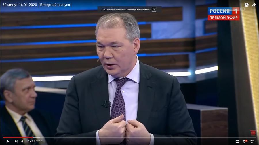 Леонид Калашников принял участие в программе 60 минут на телеканале «Россия 1»