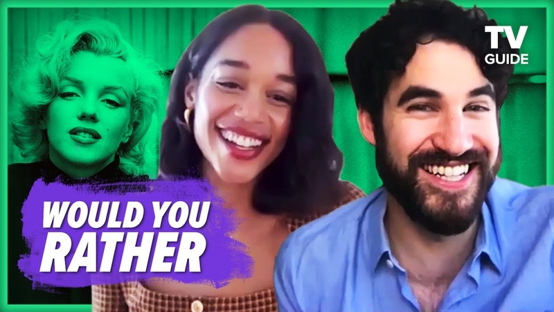Netflix's Hollywood Cast Plays Who Would You Rather Darren Criss Laura Harrier Jim Parsons