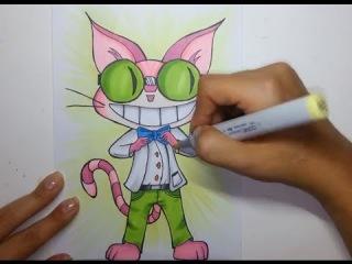 Скетчинг маркерами - Drawing Professor Genki from Saints Row IV - Copic markers
