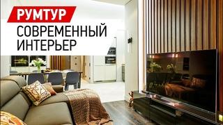 Дизайн интерьера двухкомнатной квартиры в ЖК Леонтьевский мыс - 69 кв.м. Румтур по интерьеру