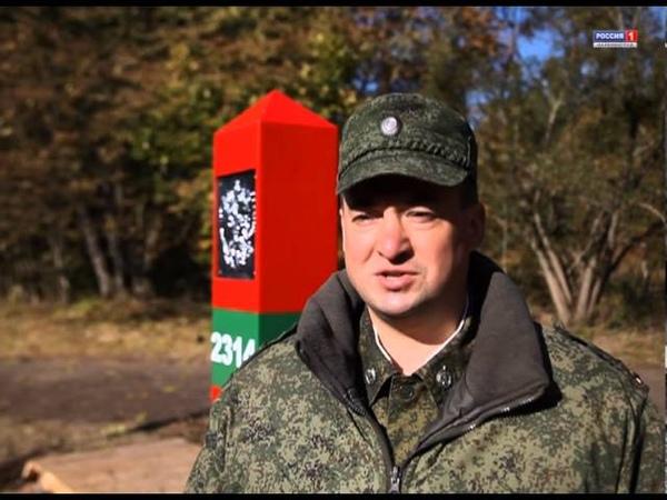 На российско польской границе начали устанавливать новые пограничные знаки