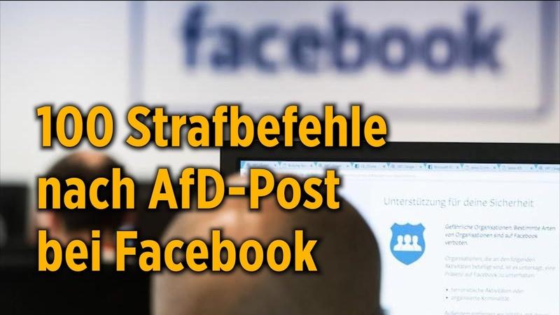 100 Strafbefehle nach AfD-Post bei Facebook