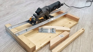 DIY Circular Saw Crosscut Jig || Homemade Circular Saw Miter Jig