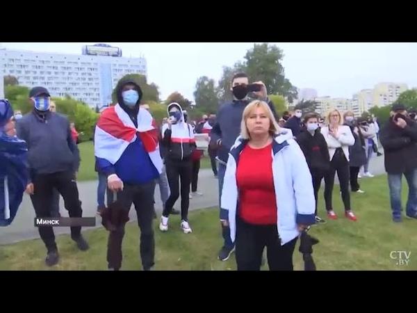 Тепло встретили протестующие БТ шного пропагандиста Азарёнка и высказали ему всё что о нём думают