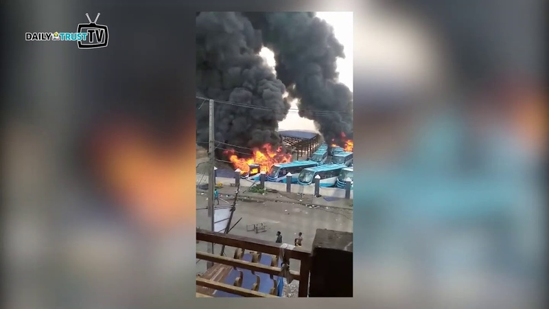Nigerian Ports Authority (NPA) Headquarter in Lagos set ablaze
