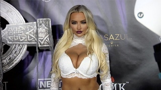 "Lindsey Pelas ""Kandy Halloween: Return of the Haunted Mansion"" Red Carpet Part 2"