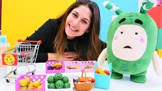 Kız oyunları. Oddbods Zee ile evcilik oyunu. Çocuklar için market oyunu.