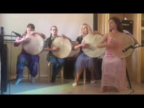 Выступление группы на рамочных барабанах (Frame drums) / NEGINA