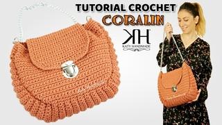 "TUTORIAL BORSE UNCINETTO - ""CORALIN"" CROCHET BAG ♡ Katy Handmade"