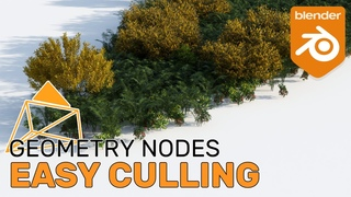 Easy Camera Culling with Geometry Nodes - Blender  Tutorial