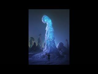 Сделать объекты светящимися в фотошопе (сверкающая снежная гора)
