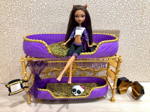 Фото куклы монстер хай клодин вульф с кроватью