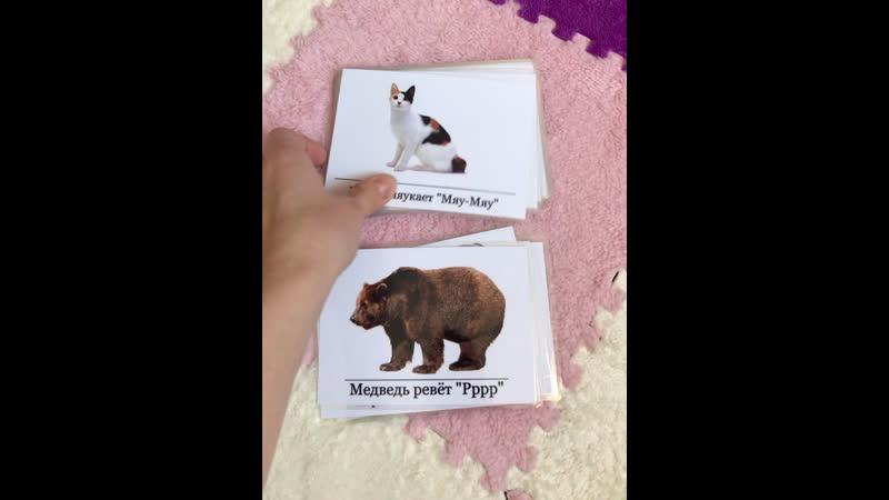 Набор карточек Животные потешки