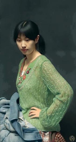 Китайский художник Лэн Цзюнь Китайский художник Лэн Цзюнь (Leng Jun) пишет поразительно реалистичные портреты, являясь настоящим мастером гиперреализма.На скептические комментарии людей,