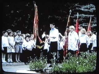 2002 г. июнь. п/л Тюленина. 1 смена. Линейка открытия.